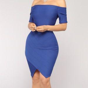 Fashion Nova- Bandage Dress (Royal Blue)